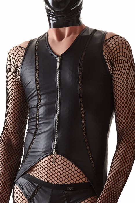 CRD010 - Black body with a silver zipper - sizes: S,M,L
