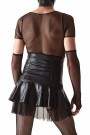 CRDSET006 - Skirt with a reinforced high waist and T-shirt made of black mesh - sizes: S,M,L