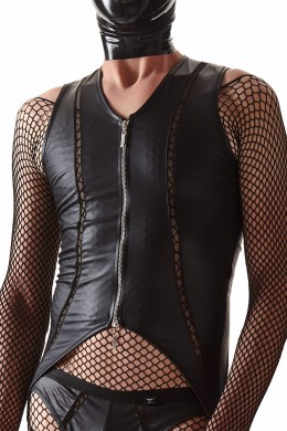 CRD010  Black body with a silver zipper  sizes: S,M,L