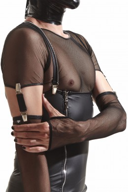 CRD011  Gloves made of black mesh with clasps  sizes: S/M ; L/XL